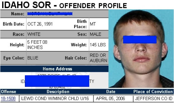Teen Registered Sex Offender The sex offender registry currently contains ...
